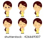 fitness woman set | Shutterstock .eps vector #426669307