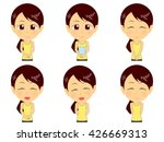 fitness woman set | Shutterstock .eps vector #426669313