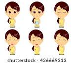 fitness woman set | Shutterstock .eps vector #426669313