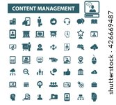 content management icons  | Shutterstock .eps vector #426669487