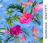 vintage style aloha shirt... | Shutterstock .eps vector #426671977