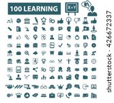 learning icons  | Shutterstock .eps vector #426672337
