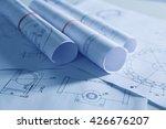 set of engineering drawings... | Shutterstock . vector #426676207