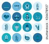 diwali. indian festival icons.... | Shutterstock .eps vector #426678937
