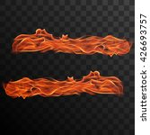 realistic burning fire flames... | Shutterstock .eps vector #426693757