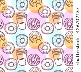 donut vector illustration... | Shutterstock .eps vector #426702187