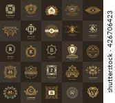 line graphics monogram. vintage ... | Shutterstock .eps vector #426706423