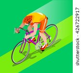 road cycling cyclist bicyclist... | Shutterstock . vector #426722917