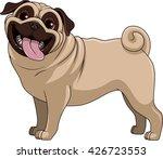 vector illustration funny dog... | Shutterstock .eps vector #426723553