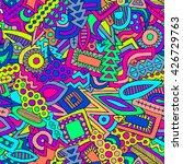 doodles vector pattern. doodle... | Shutterstock .eps vector #426729763
