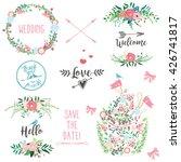 flower set  flowers  wreath ... | Shutterstock .eps vector #426741817