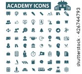 academy icons  | Shutterstock .eps vector #426744793