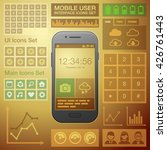 flat mobile ui user interface...