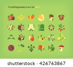 fruit and vegetables icons set. ... | Shutterstock .eps vector #426763867