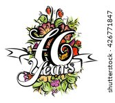 76 years with nice bouquet of... | Shutterstock .eps vector #426771847