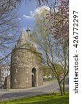 Small photo of Medieval city gate (Marschiertor) in Aachen, Germany