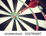 dart arrow hitting in the... | Shutterstock . vector #426784687