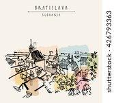 bratislava skyline  bratislava  ... | Shutterstock .eps vector #426793363