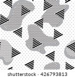 seamless pattern with polka dot ... | Shutterstock .eps vector #426793813