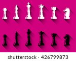 set of chess figures. black and ... | Shutterstock .eps vector #426799873