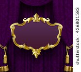 Dark Violet Curtain With...