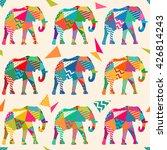 seamless elephant kids pattern... | Shutterstock .eps vector #426814243