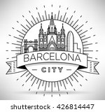 minimal barcelona city linear... | Shutterstock .eps vector #426814447