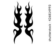 black tribal flames for tattoo... | Shutterstock .eps vector #426814993