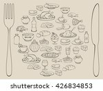 cooking foods and kitchen... | Shutterstock .eps vector #426834853