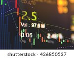 financial data on a monitor.... | Shutterstock . vector #426850537