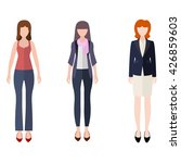 three women flat style icon... | Shutterstock .eps vector #426859603