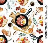 watercolor seamless pattern  ... | Shutterstock . vector #426863227