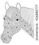 head horse coloring book for... | Shutterstock .eps vector #426880777