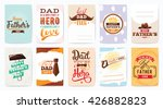 happy fathers day greeting... | Shutterstock .eps vector #426882823