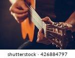 closeup on musical instrument....   Shutterstock . vector #426884797