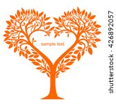 stylized tree with leaves and...   Shutterstock .eps vector #426892057