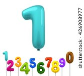 colorful shiny balloons number... | Shutterstock . vector #426908977