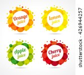 logo of fresh juice with... | Shutterstock .eps vector #426944257