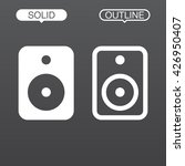 speaker line icon  outline and...