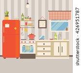vector illustration of kitchen... | Shutterstock .eps vector #426951787
