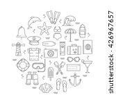 summer icon illustration poster.... | Shutterstock .eps vector #426967657