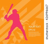 baseball player silhouette... | Shutterstock .eps vector #426996667
