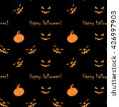 halloween seamless pattern with ... | Shutterstock .eps vector #426997903