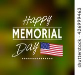 happy memorial day. memorial... | Shutterstock .eps vector #426999463