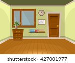 cartoon flat vector interior... | Shutterstock .eps vector #427001977