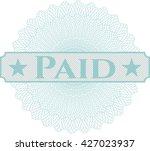paid written inside abstract...   Shutterstock .eps vector #427023937