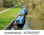 Countryside View Of Canal Boat...