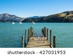 Small photo of Jetty in Akaroa, south island of New Zealand.
