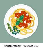 Spaghetti Pasta With Tomato...