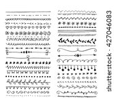 hand drawn set of line frames.... | Shutterstock .eps vector #427046083